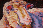 Sheep Pastels Framed Prints - Baa Ram Ewe Framed Print by Mary McInnis