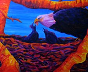 American Eagle Paintings - Baag by S J Killian