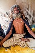 Baba Art - Baba in tent - Kumbh Mela by John Battaglino