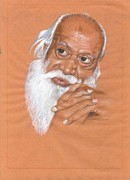 India Babas Paintings - Baba by Venkat Meruvu