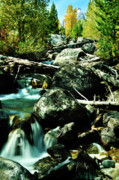 Landscape Framed Prints Prints - Babbling Brook Print by Greg Norrell