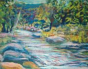 Brook  Pastels Metal Prints - Babbling Brook Metal Print by Richalyn Marquez