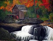 Grist Mill Paintings - Babcock Mill by Timothy Smith