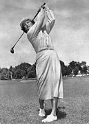Long Skirt Framed Prints - Babe Didrikson Zaharias Framed Print by Granger