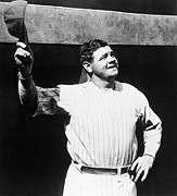 Baseball Uniform Metal Prints - Babe Ruth 1895-1948, American Baseball Metal Print by Everett