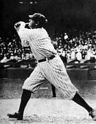 1920s Candid Art - Babe Ruth 1895-1948 At Bat, Ca. 1920s by Everett