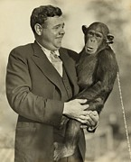 Babe Ruth Photos - Babe Ruth 1895-1948, Holding Mike by Everett