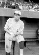 Baseball Uniform Metal Prints - Babe Ruth, 1921 Metal Print by Everett