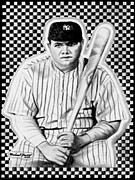 Etc. Drawings - Babe Ruth by Michael Yacono