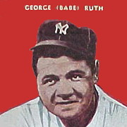 Mlb Drawings Posters - Babe Ruth Poster by Paul Van Scott