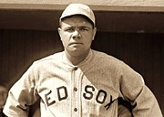 Red Sox Art - Babe Ruth by Reproduction