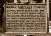 Babe Ruth Photos - Babes Longest Homer by David Lee Thompson