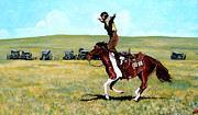Bull Riding Paintings - Babette Rides Again by Tom Roderick