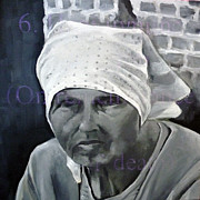 Moscow Paintings - Babushka by Martina Anagnostou