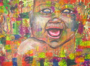 Crucifix Paintings - Baby - 1 by Jacqueline Athmann