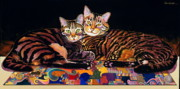 Abstract Realism Painting Posters - Baby and Critter Poster by Bob Coonts