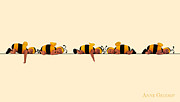 Down Photo Posters - Baby Bees Poster by Anne Geddes