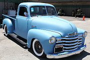 Chevy 3100 Posters - Baby Blue 1951 Chevrolet 3100 Truck . 5D16564 Poster by Wingsdomain Art and Photography