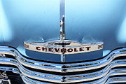 Chevrolet 3100 Prints - Baby Blue 1951 Chevrolet 3100 Truck . 5D16567 Print by Wingsdomain Art and Photography