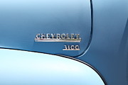 Chevrolet 3100 Prints - Baby Blue 1951 Chevrolet 3100 Truck . 5D16568 Print by Wingsdomain Art and Photography