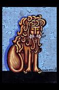 Baby Blue Byzantine Lion Print by Genevieve Esson