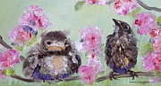 Birds - Baby Bluebirds by Pauline Ross