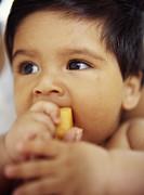 Baby Boy Eating Print by Ian Boddy