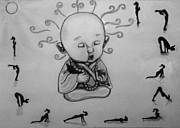 Baby Buddha Print by Shashi Kumar