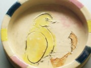 Baby Ceramics - Baby Chick bowl by Susan Bornstein