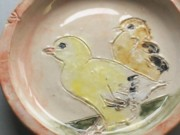 Food Ceramics - Baby Chicks bowl by Susan Bornstein