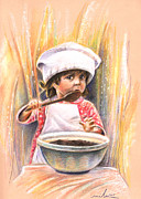 Portraits - Baby Cook with Chocolade Cream by Miki De Goodaboom
