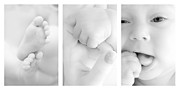 Finger Photo Prints - Baby details Print by Jaroslaw Grudzinski