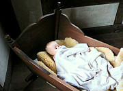 Doll Art - Baby Doll in Cradle by Susan Savad