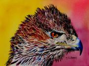 Eagle Painting Originals - Baby Eagle by Maria Barry