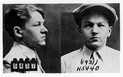 Mug Shots Posters - Baby Face Nelson 1908-1934, Bank Robber Poster by Everett