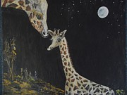 Rhonda Clapprood - Baby Giraffe Love under...