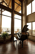 Chalet Posters - Baby Grand Piano in a Corner Poster by Will and Deni McIntyre