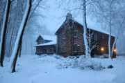 Log Cabin Photos - Baby Its Cold Outside by Kristin Elmquist