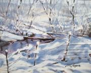 Snow Scene Painting Originals - Baby Its Cold Outside by Wes Loper