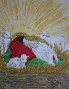 Kathy Marrs Chandler Art - Baby Jesus at Birth by Kathy Marrs Chandler