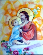 Child Jesus Paintings - Baby Jesus  by Myrna Migala