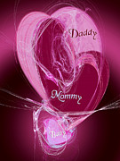 Heart Artwork Digital Art - Baby Makes 3 by Andee Photography