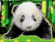 Panda Mixed Media - Baby Panda Bear by Paul Van Scott