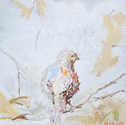 Quail Paintings - Baby Quail by Debbie  Downs