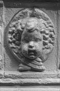 Bas-relief Framed Prints - Baby Stone Face Framed Print by Robert Ullmann