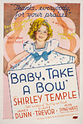 Newscanner Framed Prints - Baby Take A Bow, Shirley Temple, 1934 Framed Print by Everett