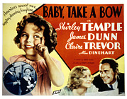 Dunn Framed Prints - Baby Take A Bow, Shirley Temple, Claire Framed Print by Everett