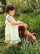 Photography Originals - Baby With Teddy Bear by James Steele