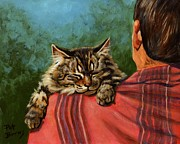 Animals Tapestries Textiles Posters - Babyface Poster by Pat Burns