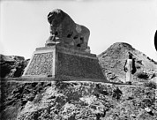 Iraq Prints - Babylon, A Basalt Lion, Iraq, Circa Print by Everett
